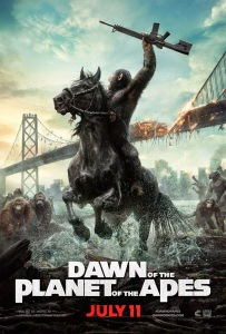 Dawn of the Planet of the Apes New Poster - war